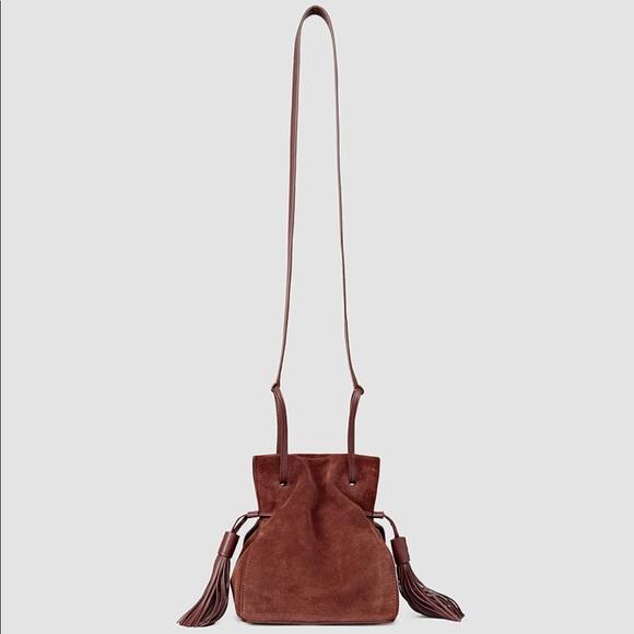 a4ee9ec4e All Saints Bags | Freedom Mini Bucket Bag Brown Suede | Poshmark